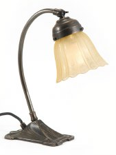 Small Square Desk or Table Lamp Art Nouveau