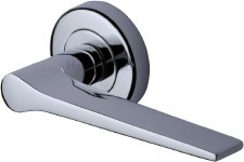Heritage Gio Round Rose Door Handles V4189 Polished Chrome