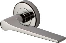 Heritage Gio Round Rose Door Handles V4189 Polished Nickel