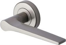 Heritage Gio Round Rose Door Handles V4189 Satin Nickel