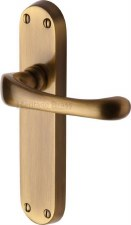 Heritage Gloucester Door Latch Handles V6060 Antique Brass Lacquered