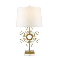 Gilded Nola Sun KingTable Lamp