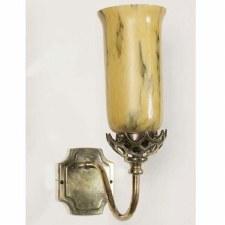 Gothic Wall Light, Light Antique Brass