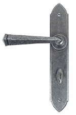 From The Anvil Gothic Bathroom Door Handles Pewter Patina
