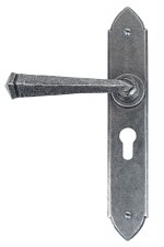 From The Anvil Gothic Euro Lock Door Handles Pewter 47mm