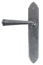 From The Anvil Gothic Door Handles Pewter Patina