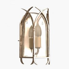 Gothic Flush Wall Light Polished Nickel