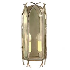 Gothic Large Flush Wall Light Polished Nickel