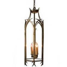 Gothic Large Handing Pendant Lantern, Light Antique