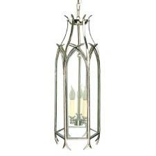 Gothic Large Handing Pendant Lantern Nickel