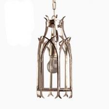 Gothic Hanging Pendant Lantern Nickel