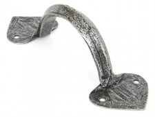"""From The Anvil 6"""" Gothic D Pull Handle Pewter Patina"""