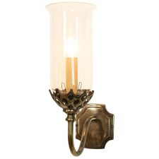 Gothic Single Wall Light Antique Brass
