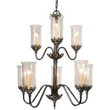 Gothic Chandelier 8 Light 2 Tier Antique Brass