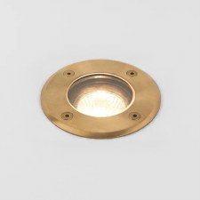 Gramos Round Wall Light Coastal Range Natural Brass