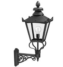 Elstead Grampian Outdoor Wall Light Lantern Black