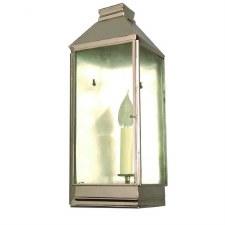 Greenwich Flush Outdoor Wall Lantern Nickel