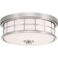 Quoizel Guardian Bathroom Flush Light Brushed Nickel