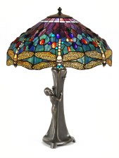 Figure Large Art Nouveau Table Lamp
