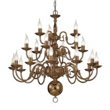 Halli Chandelier Light 21 Lights Bronze