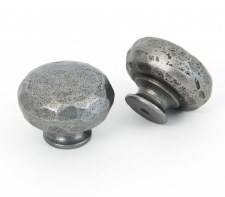 From The Anvil Hammered Knob Natural Smooth Large
