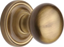 Heritage Hampstead Mortice Knobs HAM8361 Antique Brass