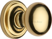 Heritage Hampstead Mortice Knobs HAM8361 Polished Brass