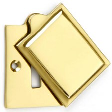 Croft Hampton Escutcheon 4562 Polished Brass Unlacquered