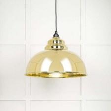 From The Anvil Harborne Pendant Light Hammered Brass