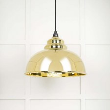 From The Anvil Harborne Pendant Light Smooth Brass