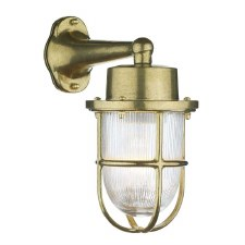 David Hunt HAR1540 Harbour Outdoor Wall Light Natural Brass IP64