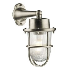 David Hunt HAR1538 Harbour Outdoor Wall Light Nickel IP64