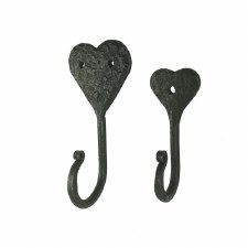 Hand Forged Heart Shaped Coat Hook Small