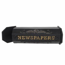 Heavy Newspaper Holder Black