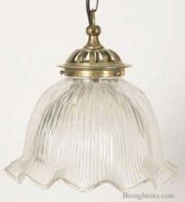 Heavy Cast Ceiling Pendant Light, Light Antique Brass