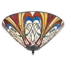 Interiors 1900 Hector Tiffany Medium Flush Light 70241