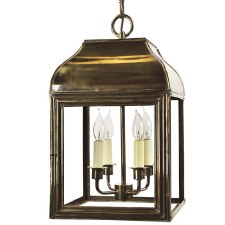 Hemingway Hanging Lantern Large Light Antique Brass