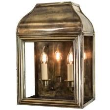 Hemingway Large Outdoor Wall Lantern Light Antique Brass