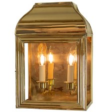 Hemingway Large Outdoor Wall Lantern Polished Brass