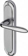 Heritage Henley Latch Door Handles HEN1210 Satin & Polished Chrome