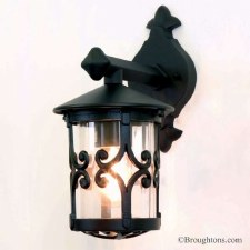 Elstead Hereford Outdoor Wall Down Light Lantern Black