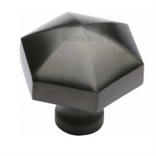Heritage Hexagon Cabinet Knob C2238 Matt Bronze