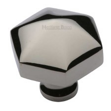 Heritage Hexagon Cabinet Knob C2238 Polished Nickel
