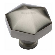 Heritage Hexagon Cabinet Knob C2238 Satin Nickel