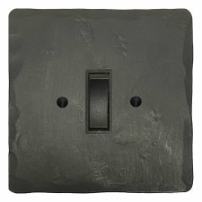 Hand Forged Rocker Light Switch 1 Gang Anthracite