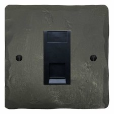 Hand Forged Telephone Socket Secondary Anthracite