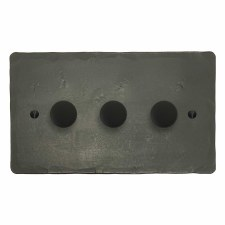 Hand Forged Dimmer Switch 3 Gang Anthracite