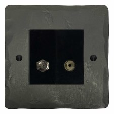Hand Forged Satellite & TV Socket Outlet Anthracite
