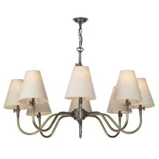 David Hunt HIC0875 Hicks 8 Light Pendant Antique Brass Fitting Only
