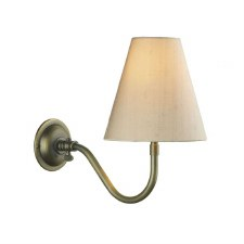 David Hunt HIC0775 Hicks Single Wall Light Antique Brass Fitting Only
